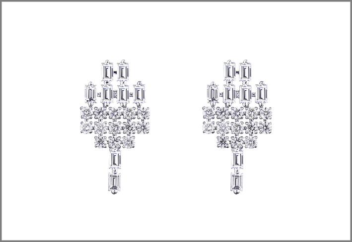AS29, maxi orecchini in oro bianco e diamanti