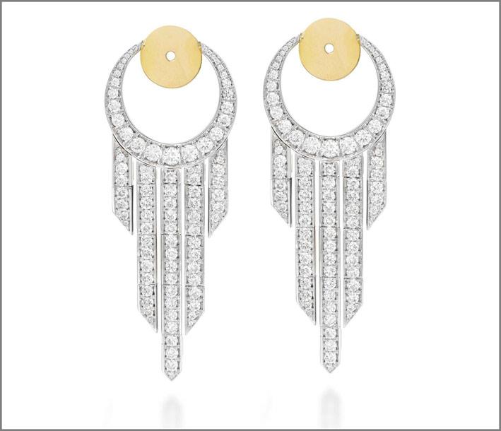 Orecchini pendenti con 2,35 carati di diamanti