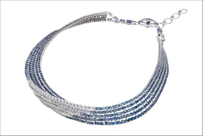 Collana Ola, diamanti e zaffiri