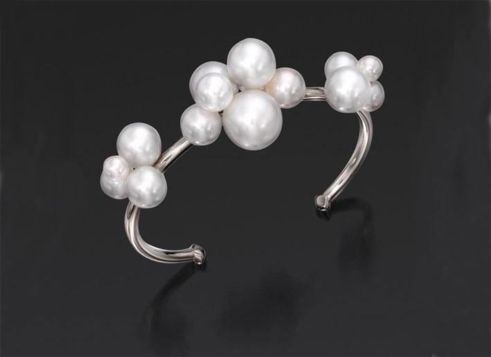 Bracciale Pearl Bubble con 16 perle Akoya