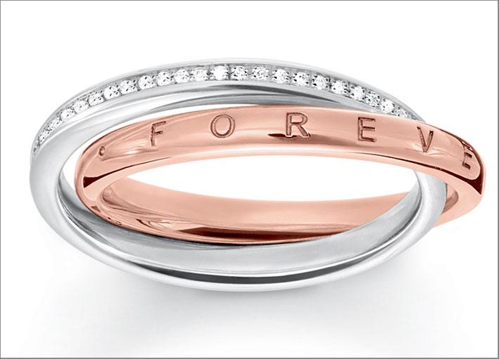 Anello della collezione Together Diamonds. Prezzo: 698 euro