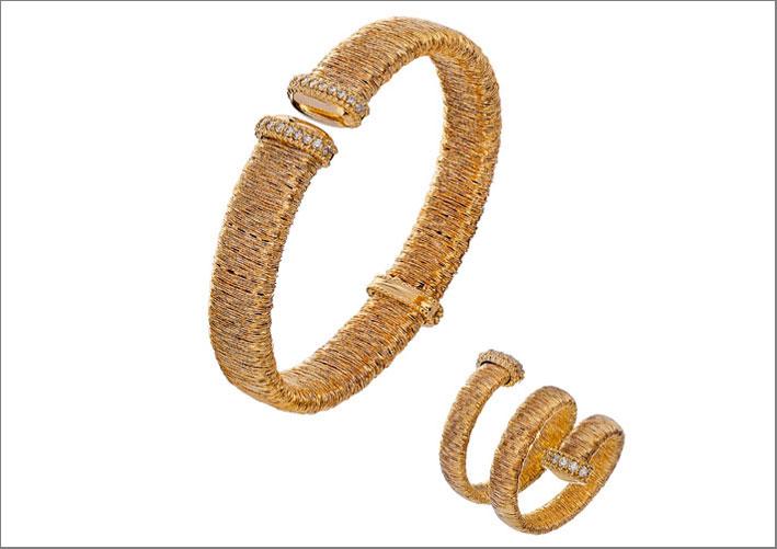 Piero Milano, bracciale e anello della collezione Goa