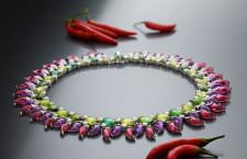 Bulgari, collana con diamanti, peridoti, ametiste, rubini