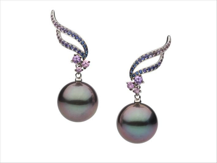 Autore, orecchini con perle