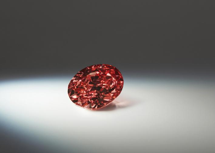 Argyle Kalina, 1.50 carati, forma ovale, Fancy Deep Pink