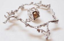 Bracciale in argento e anello in argento con perla
