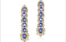 Orecchini Lina con diamanti e zaffiri blu
