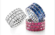 Anelli con diamanti, rubini e zaffiri di Pier Duca