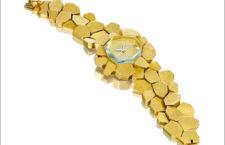 Stepping Stones, orologio-gioiello di Andrew Grima in oro e acquamarina. in asta da Bonhams