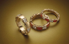 Bulgari, anelli Viper, oro rosa e diamanti