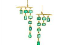 Orecchini con smeraldi classificati secondo al Couture Design Awards 2017