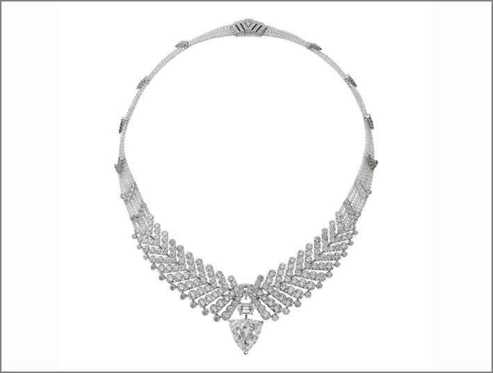 Collana della collezione Résonances con diamanti