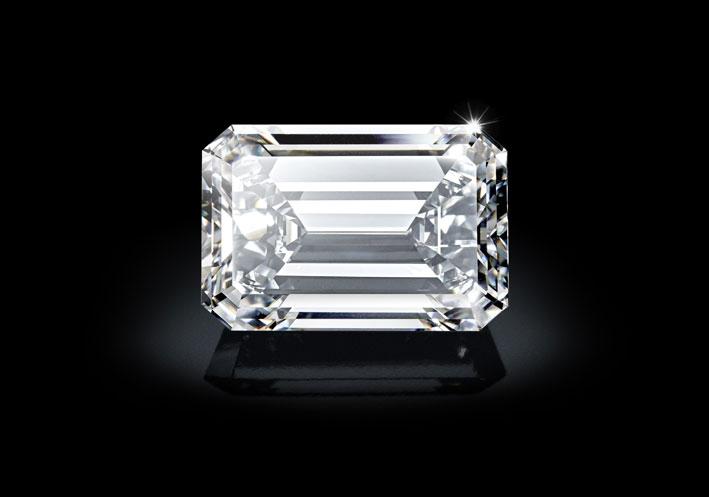 Il diamante taglio smeraldo, da 163,41 carati, D flawless e di tipo IIA di de Grisogono