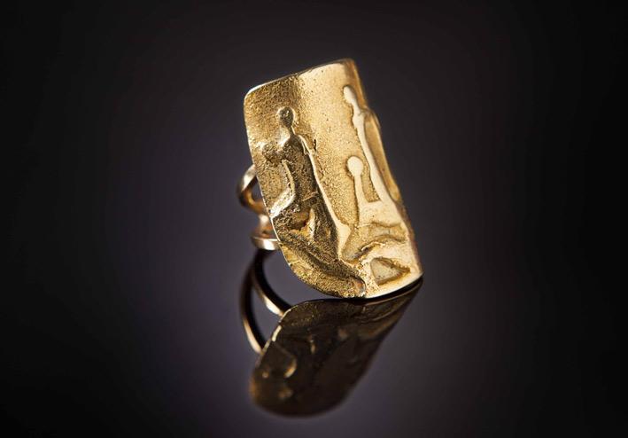 Mario Giansone, anello in oro