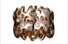 Anello della collezione Just Rebel Star, in oro rosa e diamanti