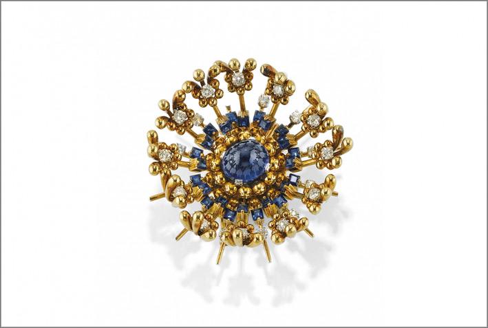 Spilla con zaffiri e diamanti di Tiffany, design du Schlumberger