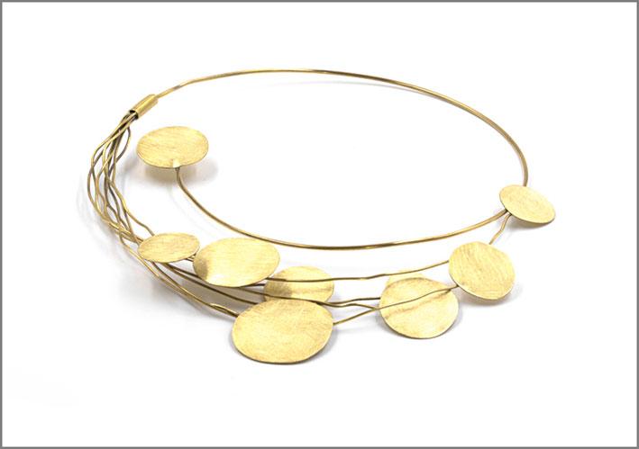 Collana in argento  ottone della collezione Taormina