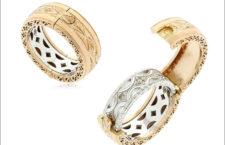 Florentine Engagement, due anelli, uno contiene un altro, si possono indossare separati o insieme. Prezzo: 4180 euro