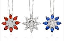 Pendenti con diamanti, rubini, zaffiri