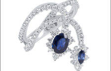 Alfieri St John, anello con diamanti e zaffiri della collezione 1953