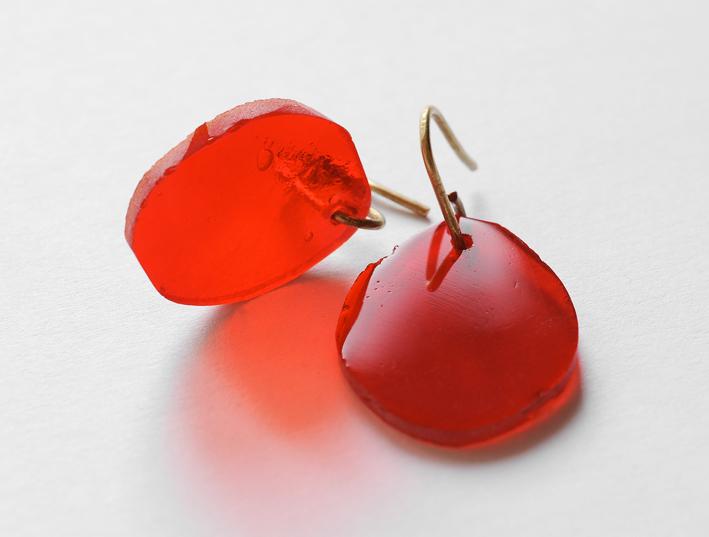 Orecchini rossi della collezione Ghiaccio