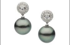 Orecchini perle di Tahiti, diamanti