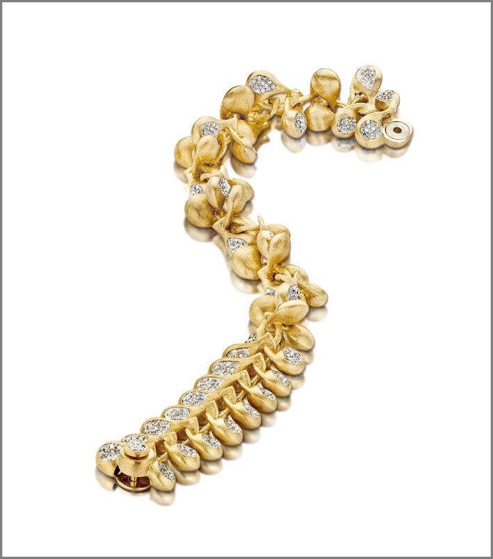 Nanis, bracciale in oro e diamanti