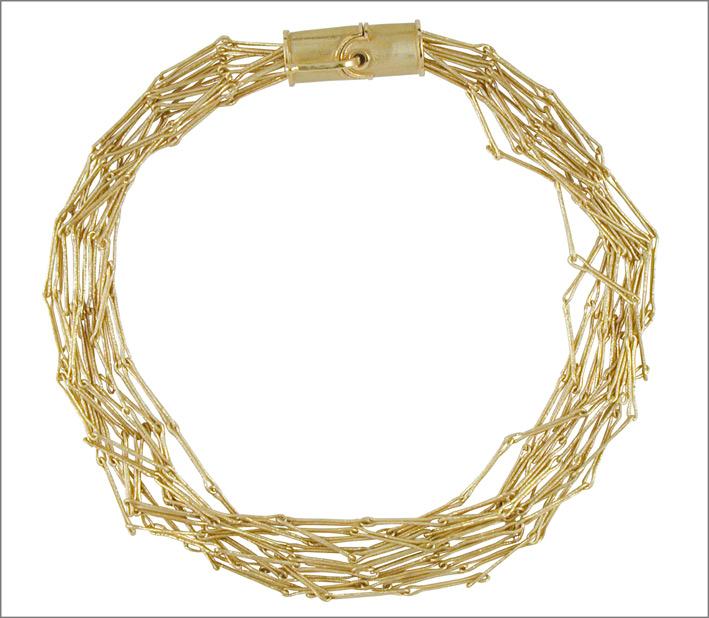 Daniela Vettori, Legami Preziosi, collier in oro, fatto a mano