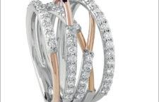 Salvini, collezione Nastro, anello in oro rosa e diamanti a quattro giri
