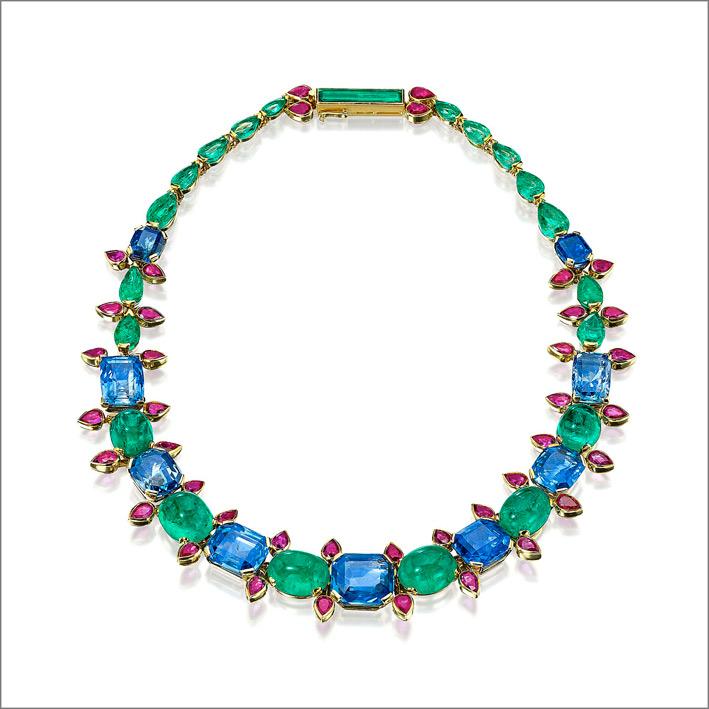 Collana di Suzanne Belperron, con pietre colorate stile Cartier