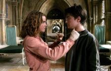 Emma Watson (Hermione Granger) e Daniel Redcliffe (Harry Potter)