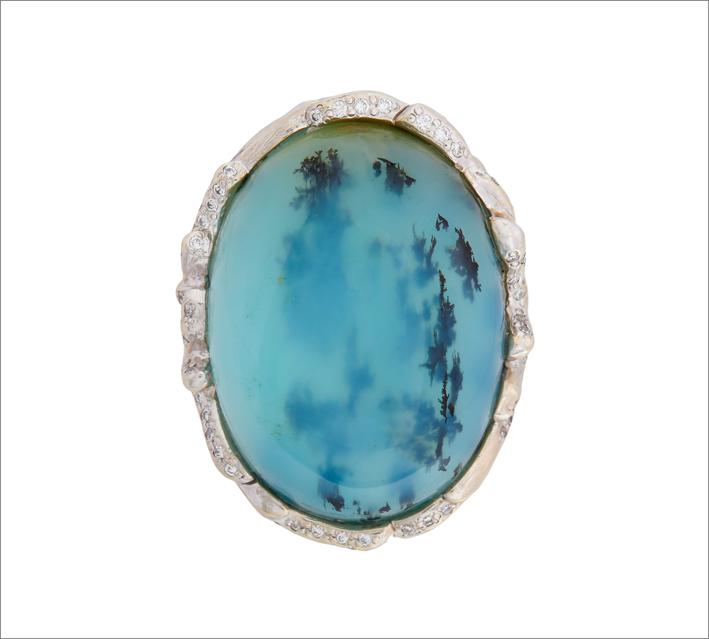 Anello di Mimi So con opale peruviano