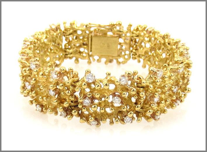 Bracciale in oro e diamanti per 2,40 carati