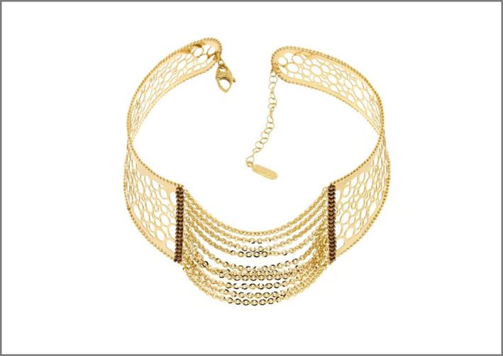 Collana in oro, collezione Moresque. Prezzo: 1480 euro