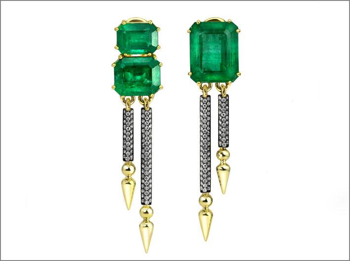 Orecchini con smeraldi dello Zambia. Prezzo: 14.500 dollari