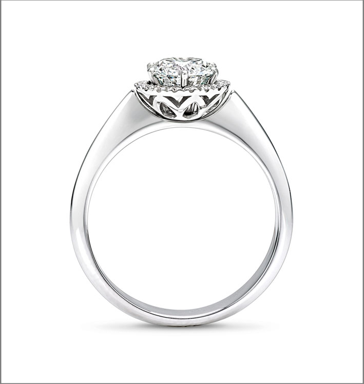 Giorgio Visconti, anello con diamante montato a giorno