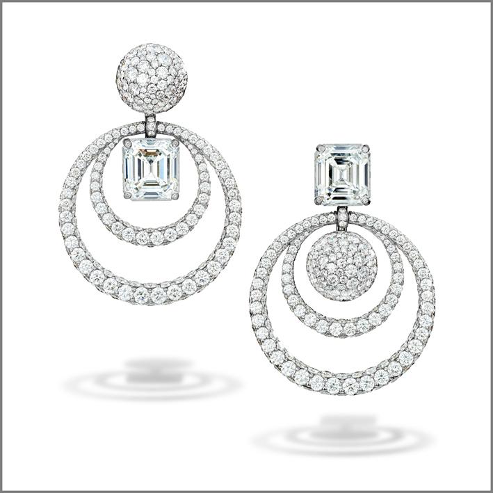 Orecchini della collezione Melody of Diamonds di de Grisogono