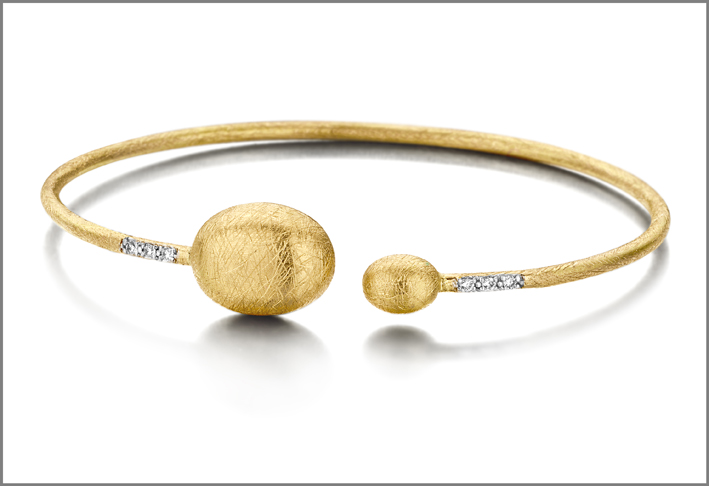 Dancing in the rain, bracciale in oro e diamanti