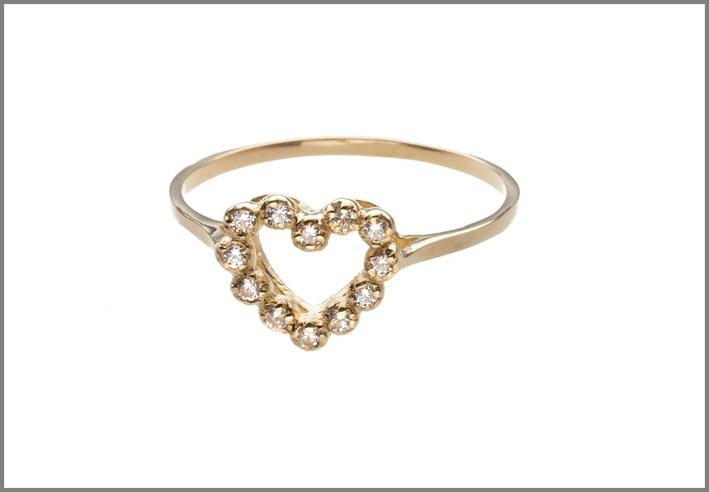 Anello in oro 14 carati. Prezzo: 699 euro