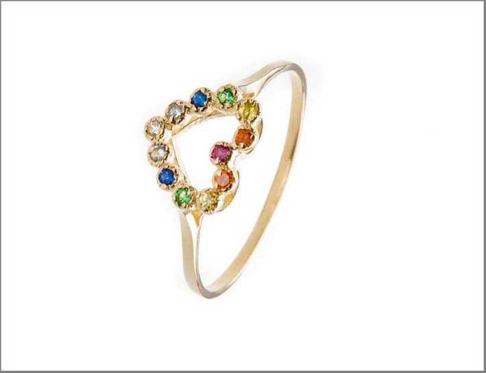 Margova, anello a forma di cuore