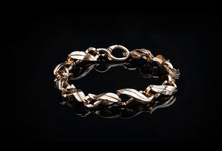 X Jewellery, bracciale in bronzo e argento