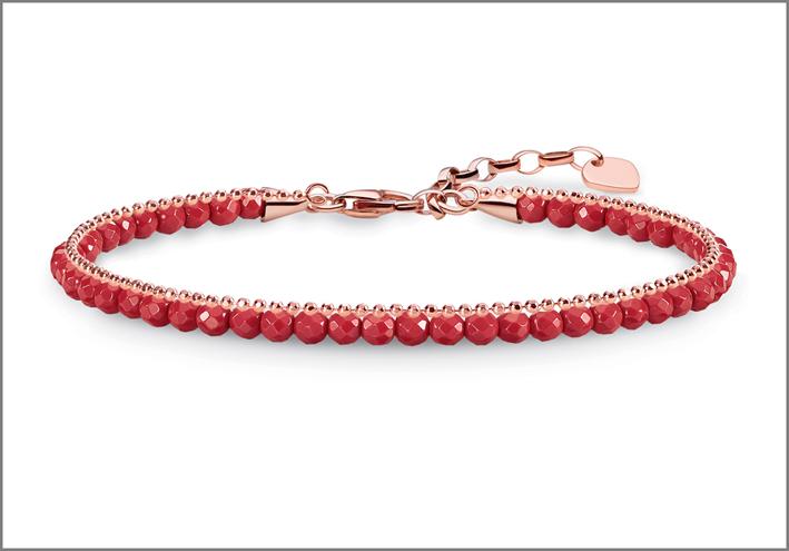 Bracciale in argento placcato oro rosa Mini Chakra