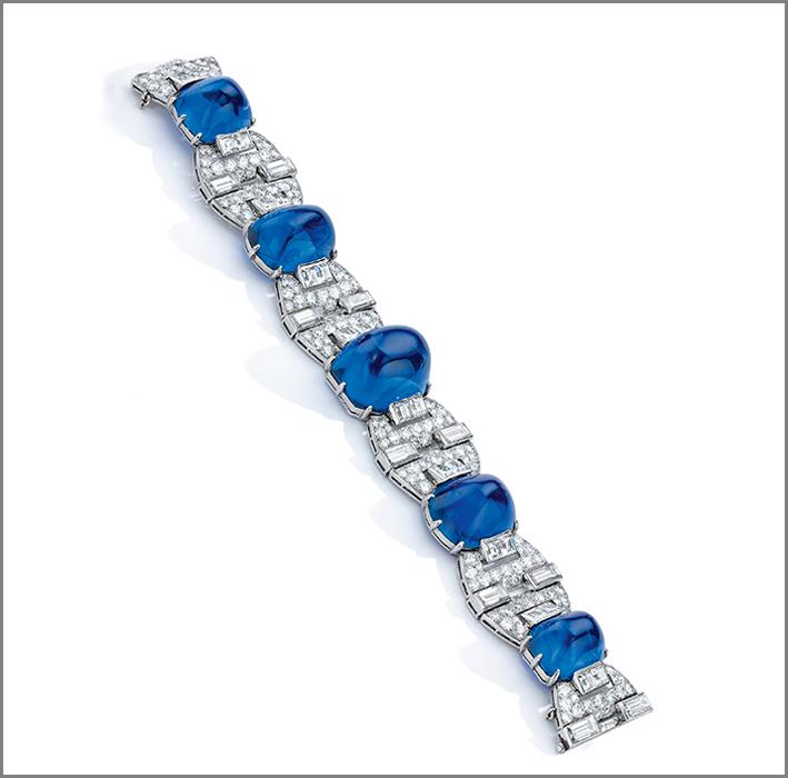 Bracciale di Van Cleef & Arpels con diamanti e zaffiri