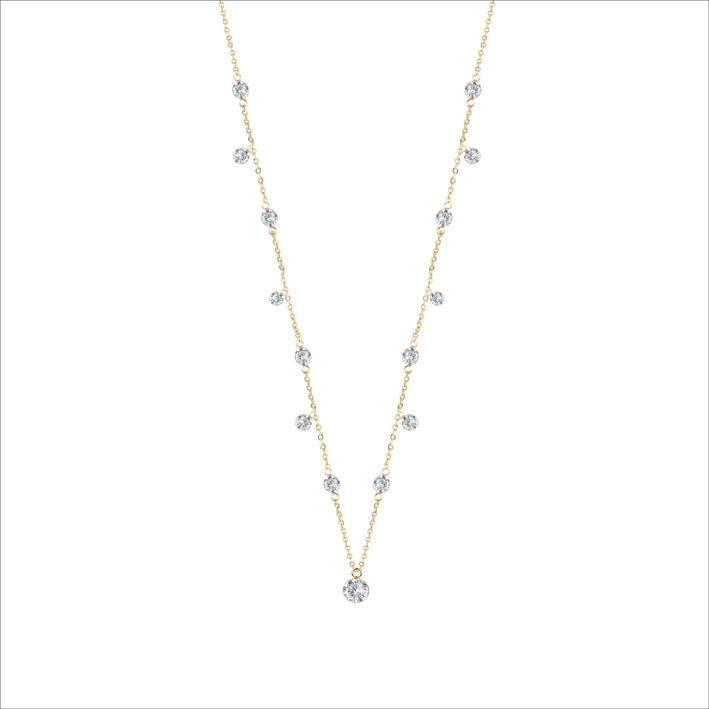 Collana Lumière  con sfere diamantate