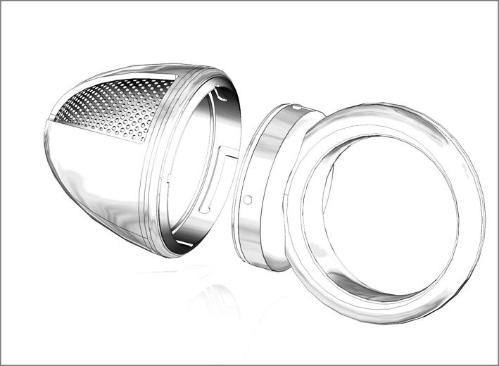 Il disegno dell'anello di platino