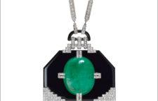 Collana con diamanti, smeraldo e onice di Jean Fouquet