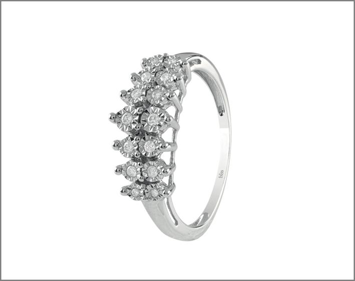 Anello Incantesimo, oro bianco e diamanti