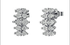 Orecchini Incantesimo, oro bianco e diamanti