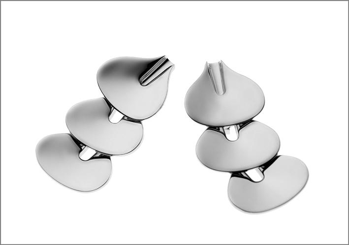 De Vecchi, orecchini della collezione Primitive, in argento