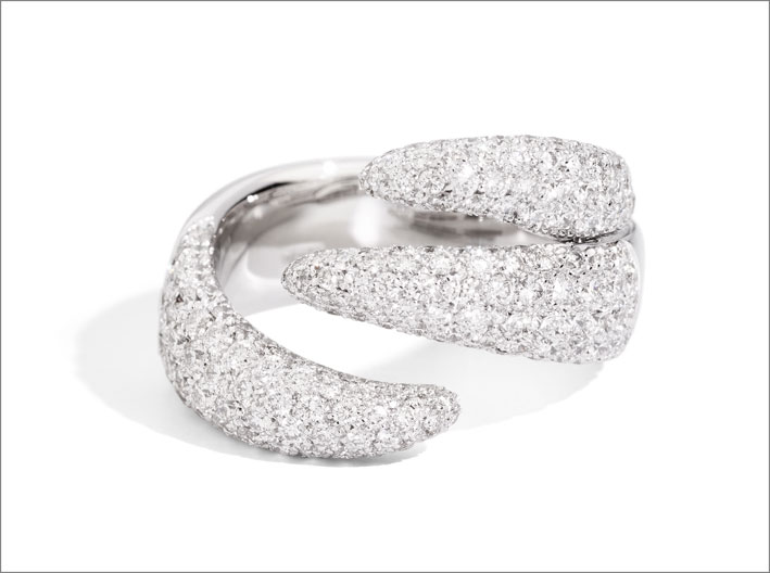 Anello a tre fasce Eternity Royal full pavé